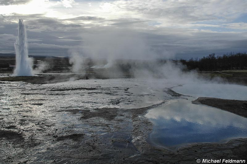 Strokkur im Winter